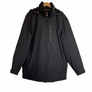 Weatherproof black full zip winter jacket parka XL